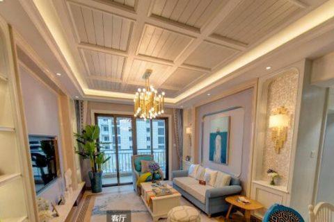 远大•美域样板间C户型93平方米二室二厅一卫(地中海风格)
